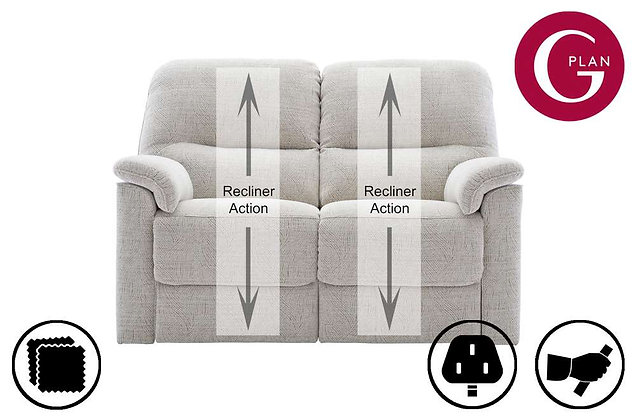 G Plan Chadwick 2 Seater Double Recliner Sofa