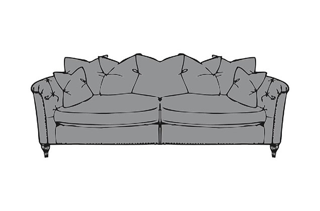 Sophia Large Pillow Back Sofa