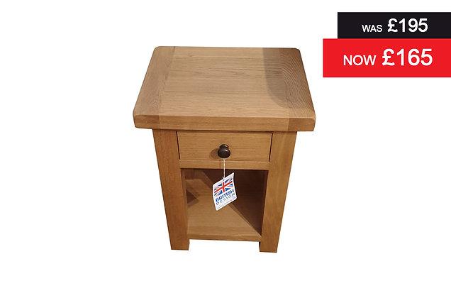Single drawer Telephone Table - Natural Oak