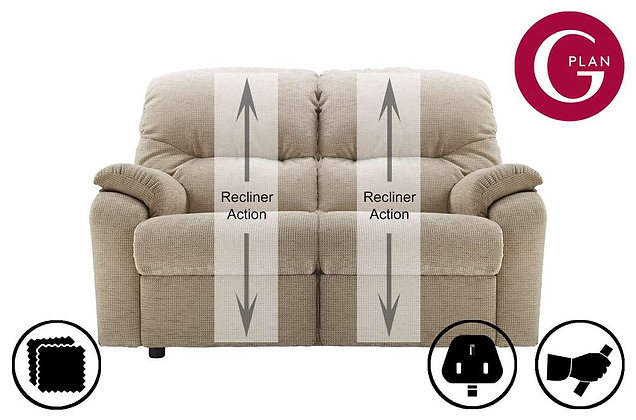 G Plan Mistral 2 Seater Double Recliner Sofa