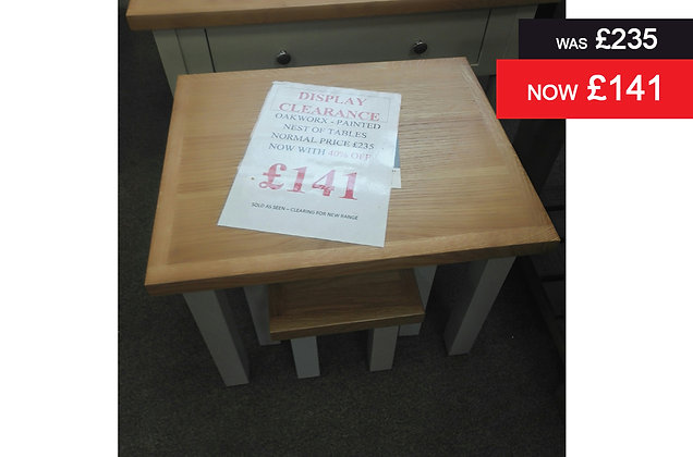 Oakworx Nest of Tables – Painted
