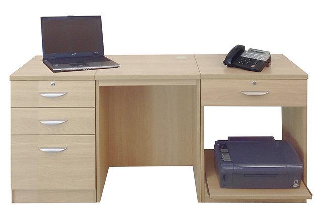Set 8 – Workstation with Printer Storage