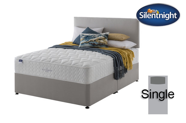 Silentnight Miracoil Sage Eco Comfort Single Divan Bed