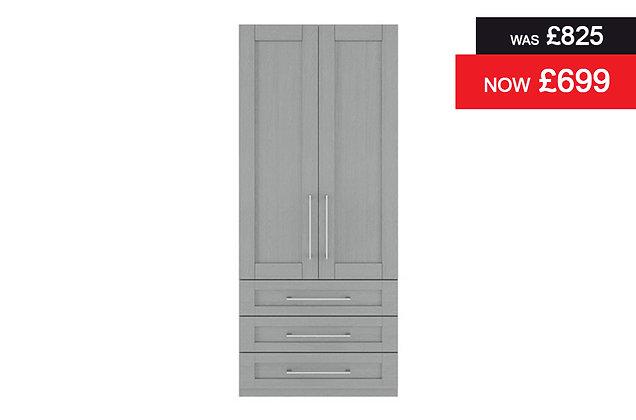 Alpha 2 Door, 3 Drawer Wardrobe