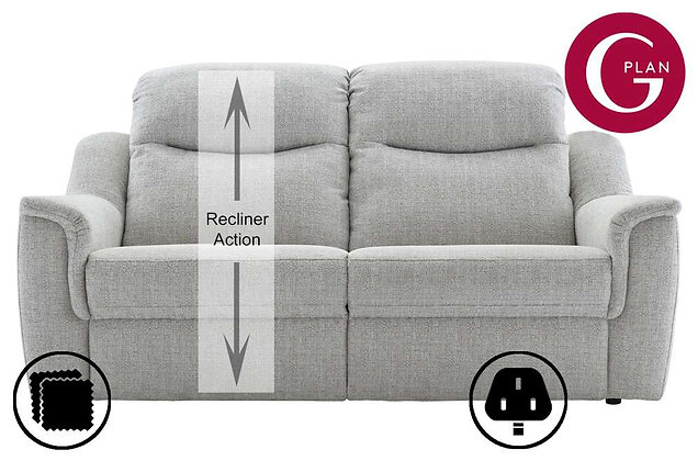 G Plan Firth 3 Seater Single Power Recliner Sofa (Left Hand Facing)