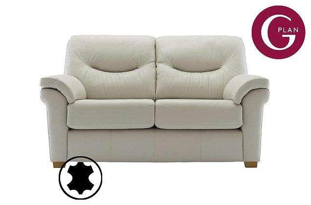 G Plan Washington Leather 2 Seater Sofa