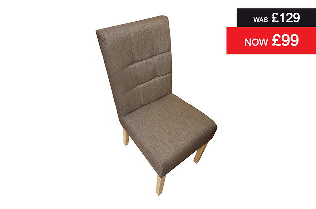 Natural Oak Upholstered Dining Chair