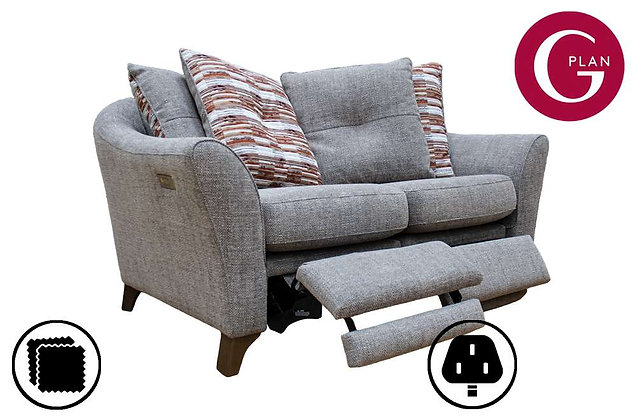 G Plan Hatton 2 Seater Pillow Back Sofa With Power Foot Rest