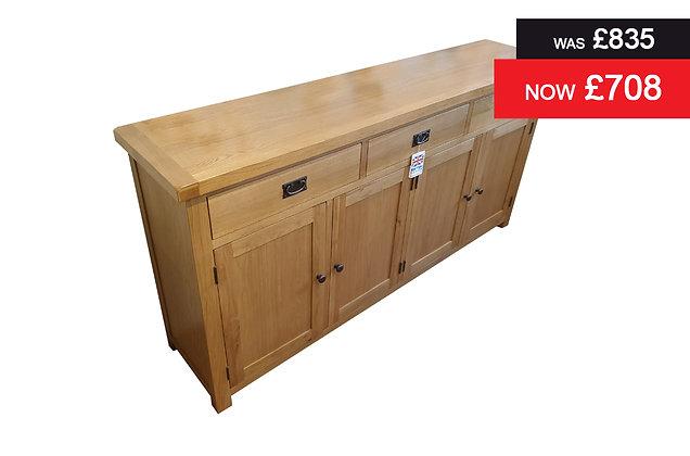 C Oak 4 Door, 3 Drawer Sideboard - Oak