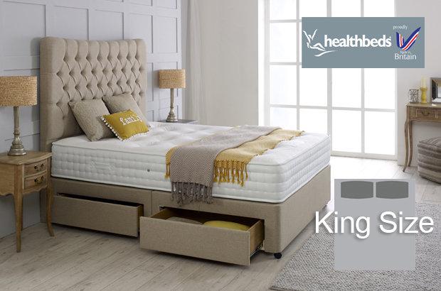 Healthbeds Enviro-Lux 1400 King Size Divan Bed