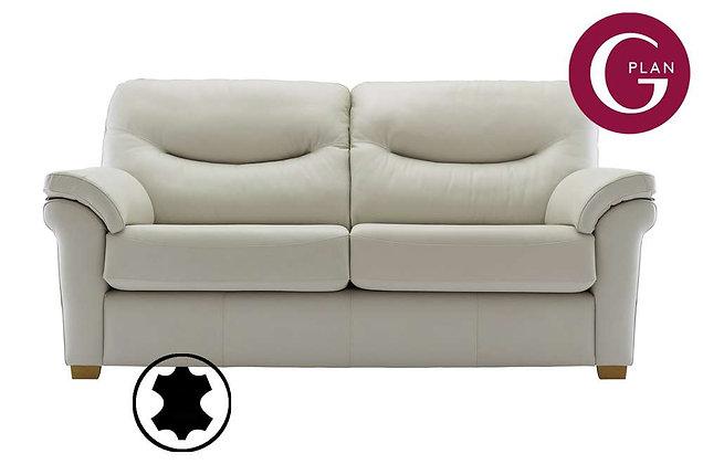 G Plan Washington Leather 3 Seater Sofa