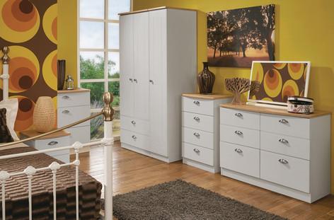 Wimborne Bedroom Furniture Range in Grey Matt & Oak