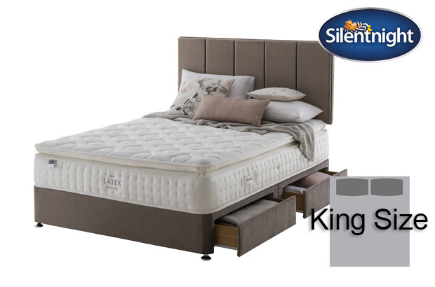 Silentnight Mirapocket Sublimate Latex 2400 King Size Divan Bed