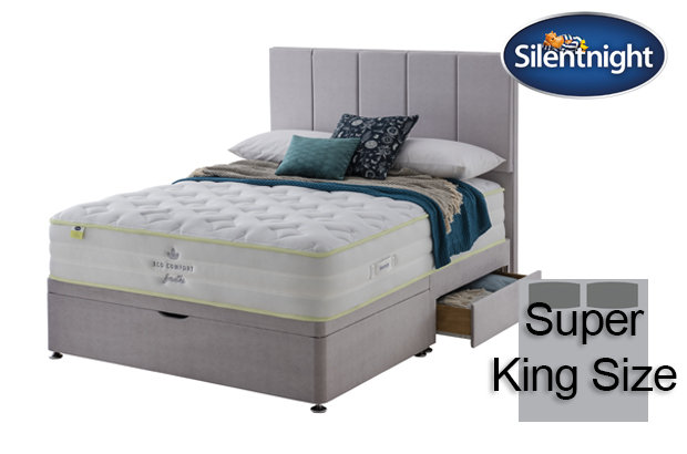 Silentnight Mirapocket Eco Comfort Breath 2200 Super King Size Divan Bed