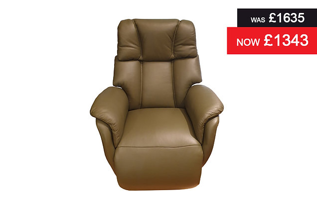 Icklesham Medium Swivel Power Recliner Chair - Hunter Semi Aniline Hide