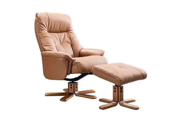 Dubai Swivel Recliner Chair & Footstool