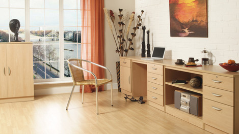 R White Office Furniture in Beech