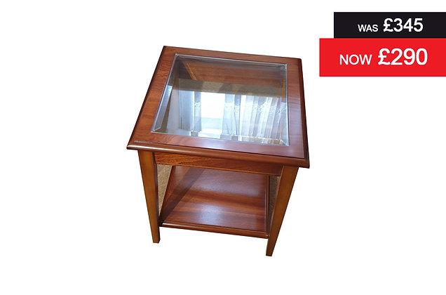 A811 Lamp Table - Natural Mahogany