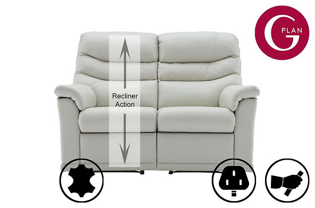 G Plan Malvern Leather 2 Seater Left Hand Facing Single Recliner Sofa