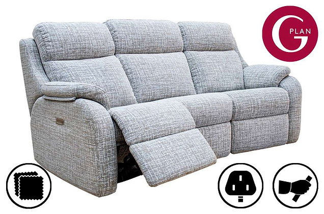 G Plan Kingsbury Curved 3 Seater Recliner Sofa