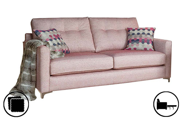 Prague 3 Seater Sofa Bed