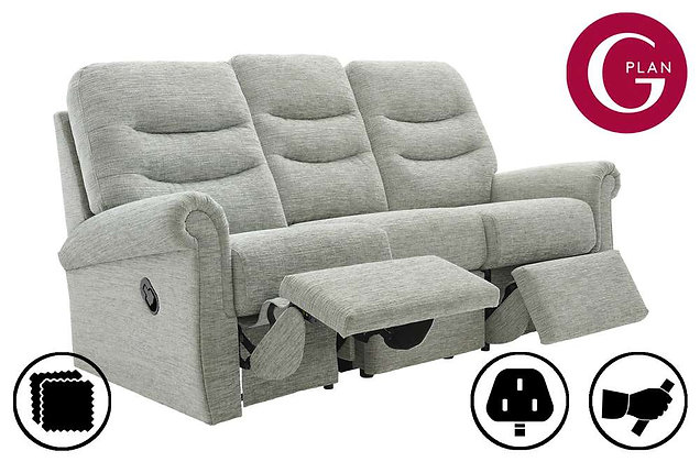 G Plan Holmes 3 Seater Double Recliner Sofa