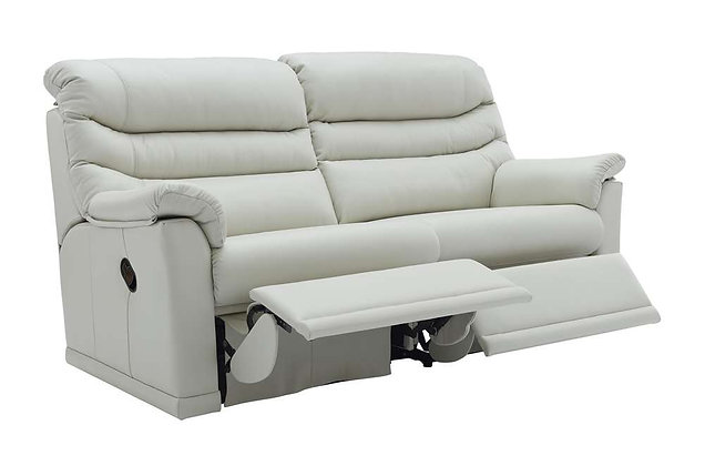 G Plan Malvern Leather Double 3 Seater (2 Cushion) Recliner Sofa