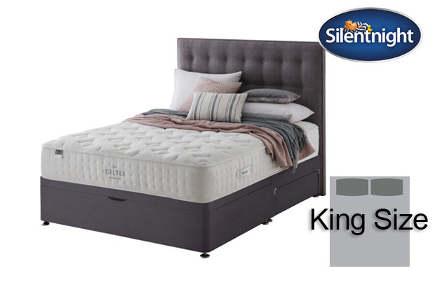 Silentnight Mirapocket Pastel Geltex 1000 King Size Divan Bed