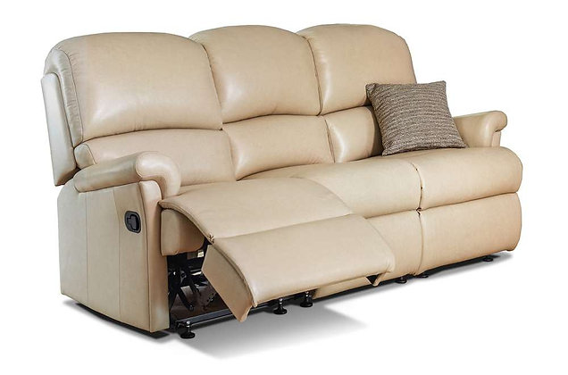 Wexford Leather Small 3 Seater Recliner Sofa