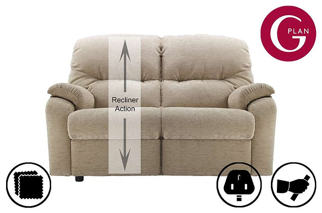 G Plan Mistral 2 Seater Left Hand Facing Single Recliner Sofa