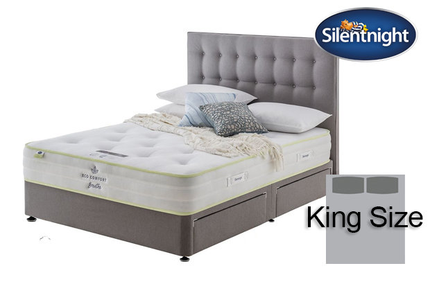 Silentnight Mirapocket Eco Comfort Breath 1200 King Size Divan Bed