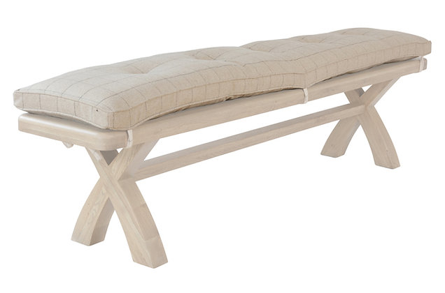 Toulouse 2m Bench Cushion Only – Natural Check