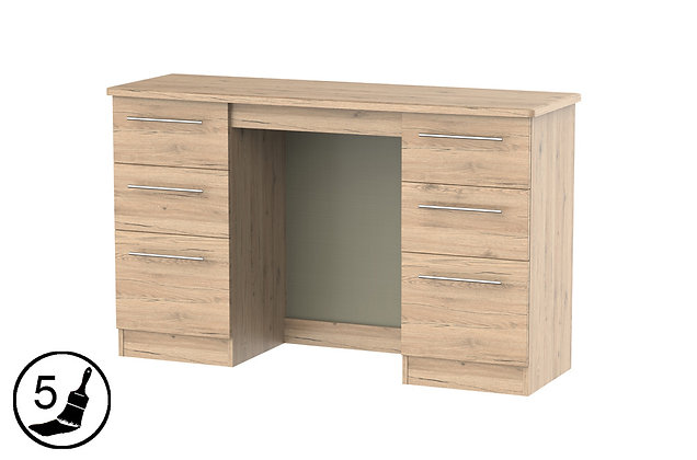 Milford 6 Drawer Kneehole Dressing Table