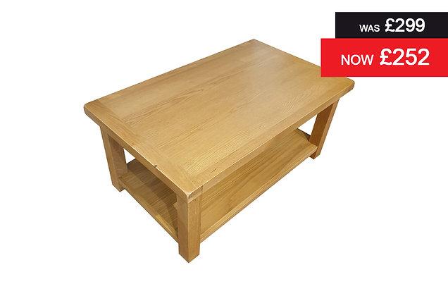 Rustic Rectangular Coffee Table - Classic Oak