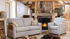 Alstons Reuben 3 Seater Fabric Sofa & Armchair