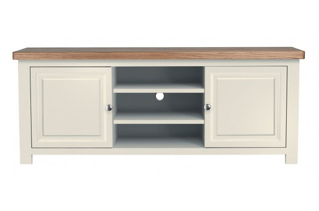 Bretagne Plasma TV Unit – Ivory with Lacquered Top