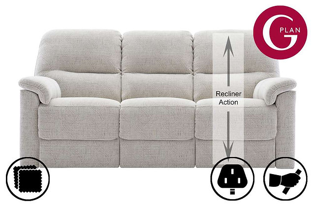 G Plan Chadwick 3 Seater RHF Single Recliner Sofa