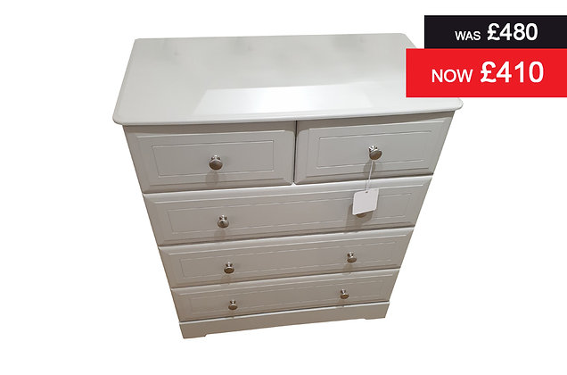 Nicole 3 plus 2 Drawer Chest - Grey