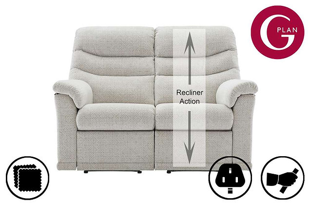 G Plan Malvern 2 Seater Right Hand Facing Single Recliner Sofa