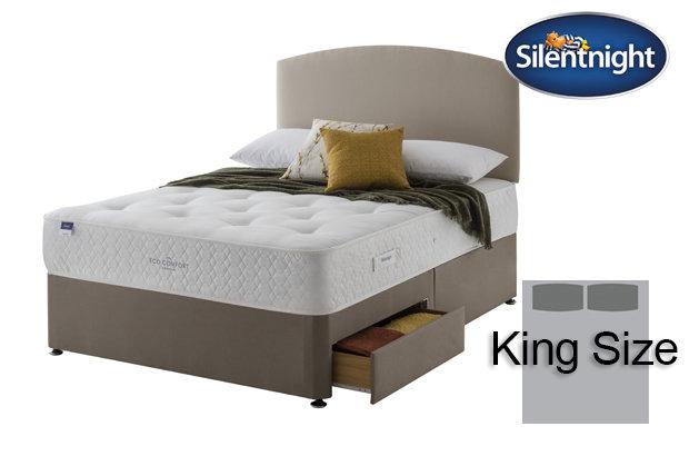 Silentnight Miracoil Saffron Eco Comfort King Size Divan Bed