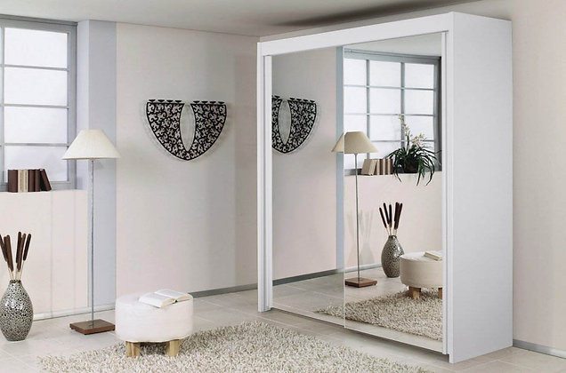 Deluxe Sliding Door Wardrobe - White