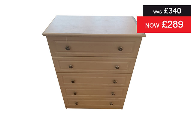 Clifton 5 Drawer Chest - Grey