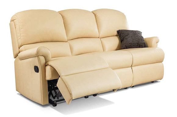 Sherborne Nevada Leather 3 Seater Recliner Sofa
