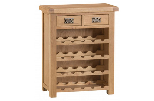 Naples Rustic Oak Wine Cabinet