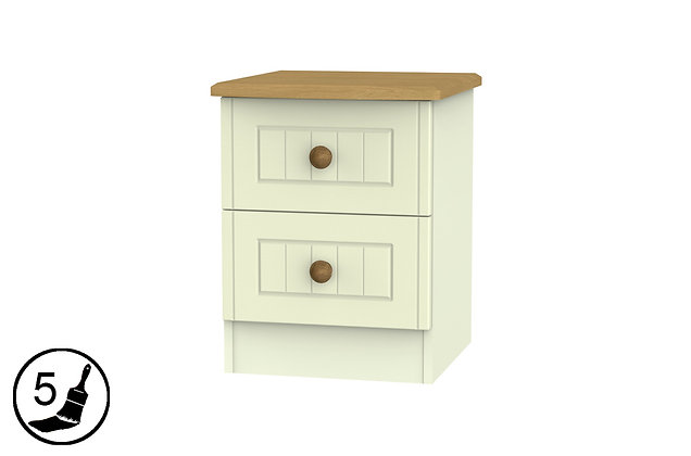 Solent 2 Drawer Bedside