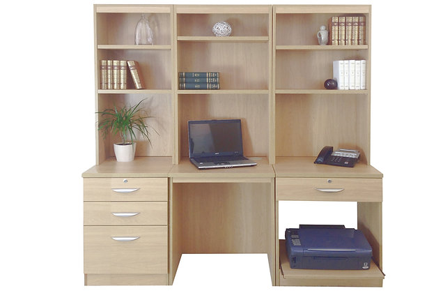 Set 14 – Tall Workstation with Printer Storage