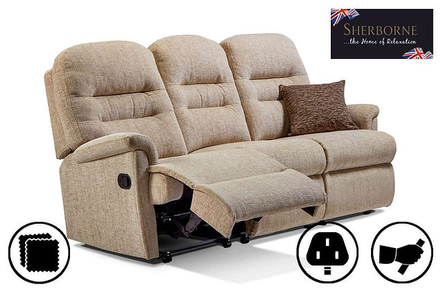 Sherborne Keswick Small 3 Seater Recliner Sofa