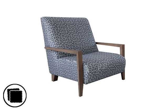 Laughton Accent Chair (Wooden Arm)