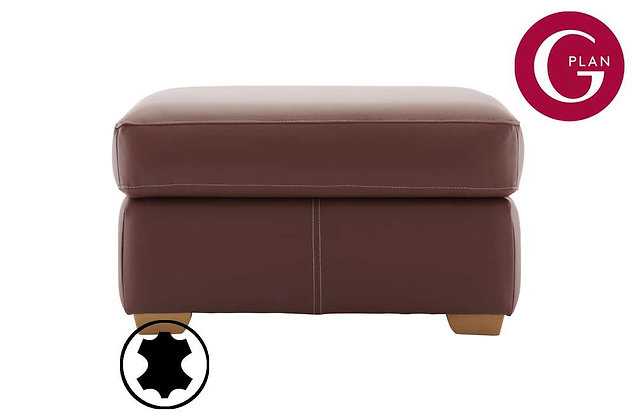 G Plan Chadwick Leather Footstool