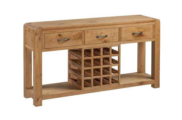 Capricorn Oak Sideboard with Wine Rack